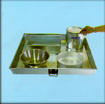 Square Pan, Rectangular Pan, Round Pan, Mixing Bowl, Sample Can, Thin Box