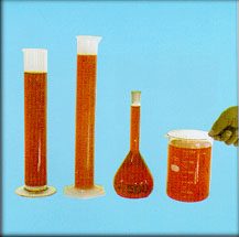 Graduated Cylinder, Graduated Cylinder, Volumetric Flask, Breaker Glass, Rectangular Pan, Round Pan, Mixing Bowl, Sample Can, Thin Box